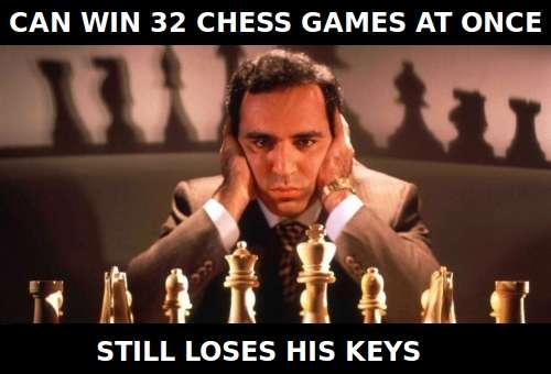Unlucky Kasparov