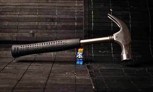 lego strong man hammer