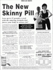 'Get Skinny' weight loss Advert